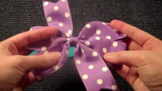 EASY Pinwheel Style hair bow (hairbow tutorial/instructions V.1)
