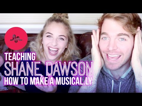 TEACHING SHANE DAWSON HOW TO MAKE A MUSICAL.LY | Baby Ariel
