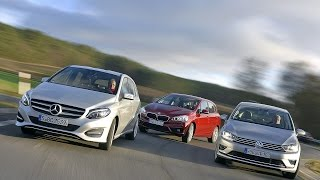 Mercedes B-Klasse vs. BMW 2er Active Tourer vs. VW Golf Sportsvan (2014)