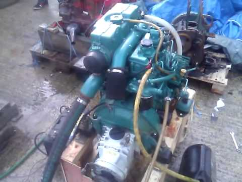 Volvo Penta MD2040D 39hp Marine Diesel Engine - YouTube