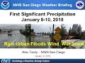 3 weather systems will bring rain, heavy rain and high wind Tuesday - NWS San Diego