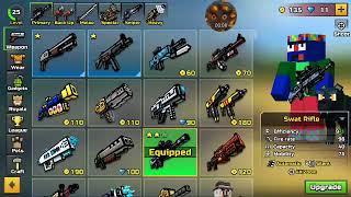 The silly Gamers Pixel Guns 3D block crash