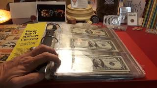 RARE & VALUABLE US CURRENCY,  SILVER CERT'S, $2 Bills, U.S. Military Script & more!