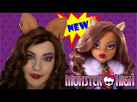 Halloween Makeup Tutorial - Monster High's Clawdeen Wolf!