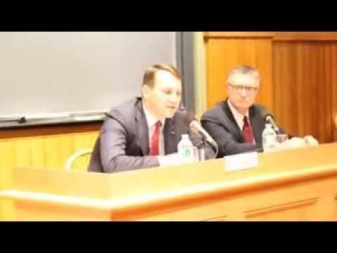 Marszałek Sejmu RP Radosław Sikorski na Uniwersytecie Harvarda