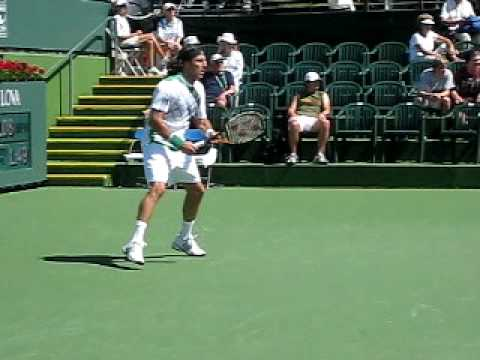 Juan Monaco at Indian Wells 2010 Video