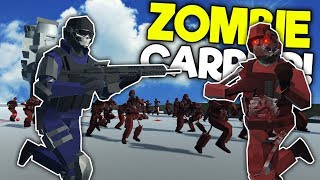 ZOMBIE ARMY BATTLES SWAT ON CARRIER! - Ravenfield Mods Gameplay - Zombie Survival