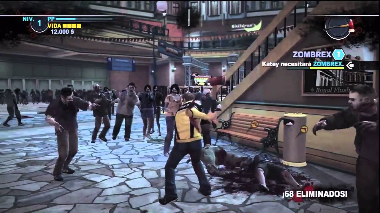 Dead Rising 2 Matando Zombies Medio Muertos En Vivo