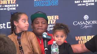 Deontay Wilder - Luis Ortiz post fight press conference