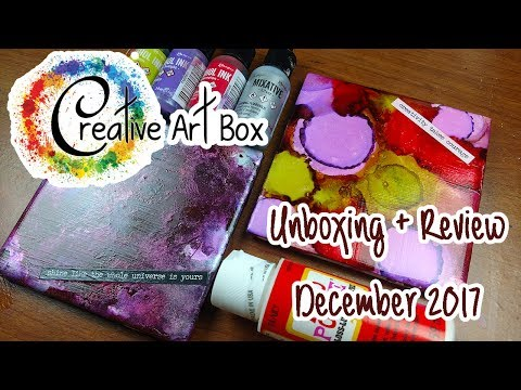 GETTING MESSY! ~ Creative Art Box Unboxing + Review ~ December 2017