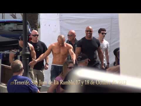 Fast and Furious 6 Vin Diesel y The Rock en Tenerife, Octubre 2012