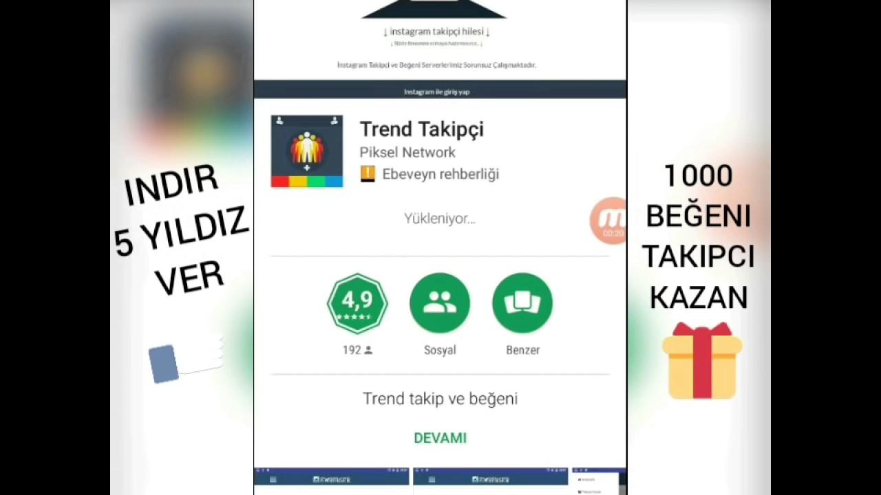 İnstagram Bedava 1000 Takipçi Hilesi 2017 - YouTube