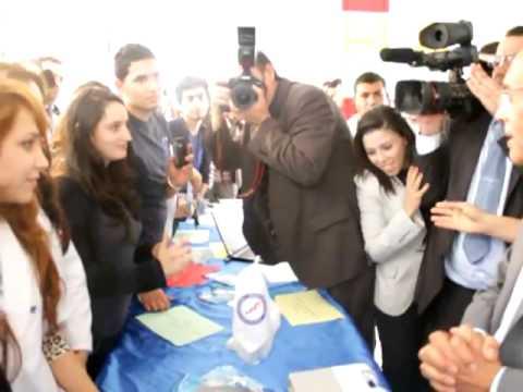 Le president Moncef Marzouki et ca femme Beatrix Rhein en Tunisie