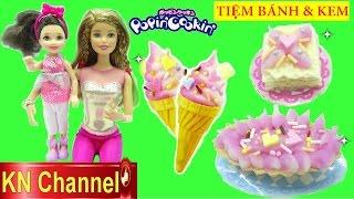 Đồ chơi POPIN COOKIN | KEM & BÁNH CAKE SHOP Búp bê Barbie GIA ĐÌNH LUCY tập 25 Kids toys