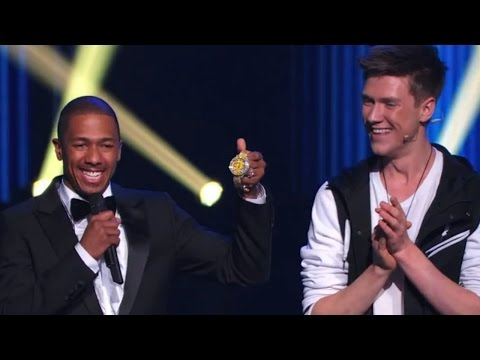 Americas Got Talent Magician Collins Key takes a sledge hammer to Nick Cannon's $250000 watch in his latest act! SUBSCRIBE FOR MORE VIDEOS: http://bit.ly/1k...