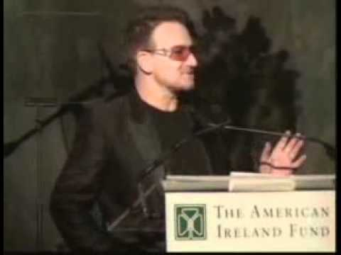 Bono addresses the American Ireland Fund 35th Anniversary New York Gala