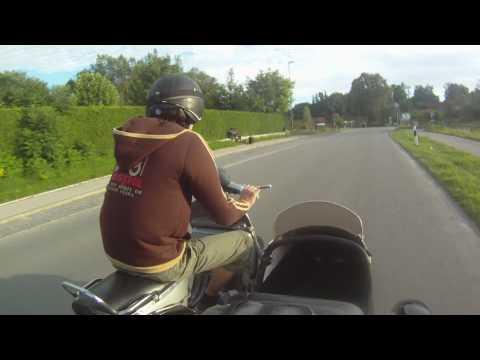 Go Pro HD  Vespa Gespann-Vespa Sidecar