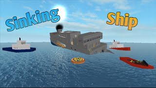 Sinking Ship in Roblox