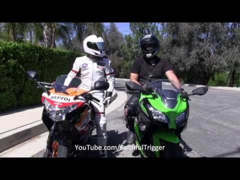 Street Ride 2013 Kawasaki Ninja 300 vs 2013 Honda CBR 250R Best Beginner Motorcycle Sport Bike