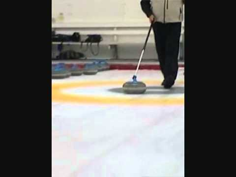 Sure-Shot Curling Stick: Instructional Video on Delivering a Stone