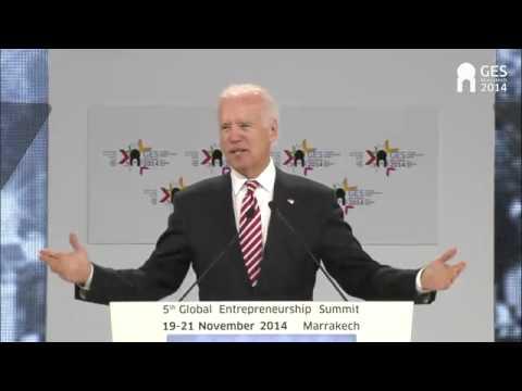 Joe Biden at Global Entrepreneurship Summit 2014 in Marrakech