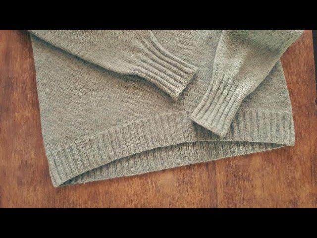 """""""Облачный свитер"""" 2-я часть. Спицами. МК."""