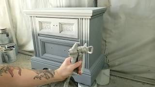 Painting Furniture with a Graco LTS-15 / X5 Paint Sprayer Slow Motion