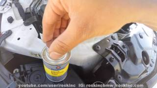 BMW E60 how to fix crumpling headlight internal wires