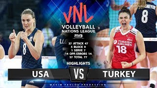 USA vs Turkey | Highlights | Women's VNL 2019