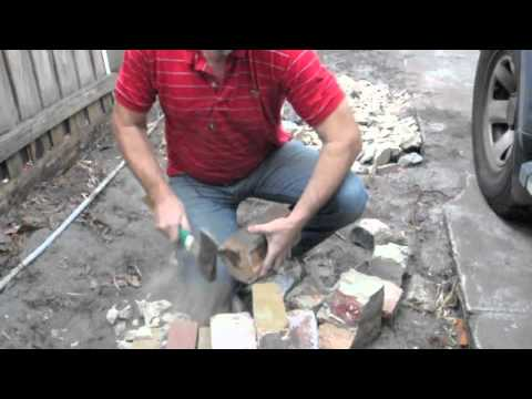 Cleaning house bricks for reuse youtube - How to build an alley out of reused bricks ...
