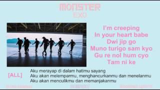 Easy Lyric EXO - MONSTER by GOMAWO [Indo Sub]