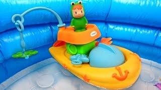"""Мультик с игрушками из  мультфильма """"Малыши"""": Лодка: Рыбалка: Развивающие игрушки для детей"""