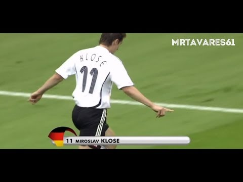 Miroslav Klose ● All 15 Goals in World Cup HD ● With Commentary