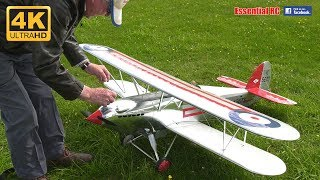 RC ELECTRIC Super Scale 1930s HAWKER FURY (Scratch built from Chris Golds plan) [*UltraHD and 4K*]