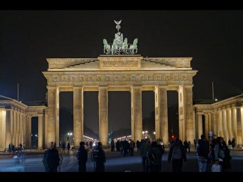 Berlin at night.
