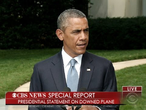 CBS News Special Report: Obama on Malaysia Airlines Flight 17 investigation