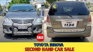 Second hand Toyota Innova Car Sale Single Owner Car