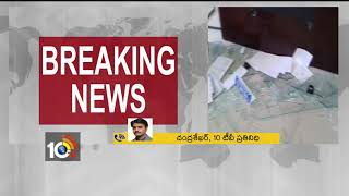 Farmers protest at Suryapet Market Yard | Furniture destroyed by farmers