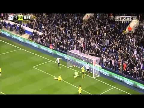 Tottenham vs Sunderland 2014 5-1 All Goals 7/4/2014