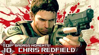 "TOP 10 BADASS ""CHRIS REDFIELD"" Moments in Resident EviL Series!"