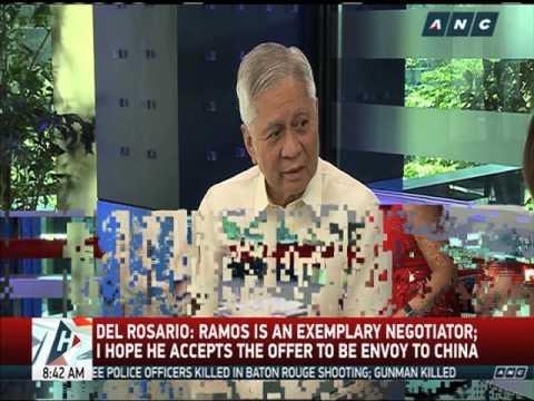 Del Rosario: FVR good pick as China envoy
