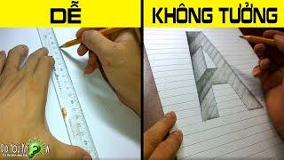 Cách Vẽ Chữ A Lún Sâu Xuống Vực Thẳm - Nghệ thuật 3D lừa tình