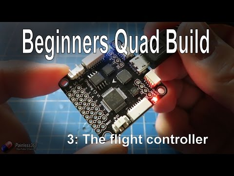 (3/9) Quadcopter Building for Beginners - The Flight Controller. options and checking