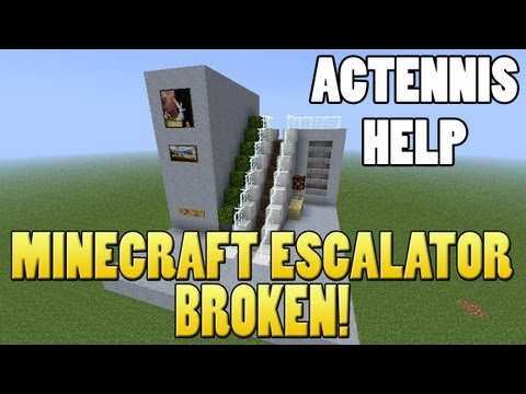 Minecraft Escalator - Broken ACtennis Please Help (13w09b Snapshot)
