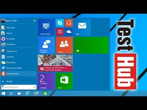 Windows 10 - Przycisk i Menu Start. Wiele Pulpitów - Pierwsze Wrażenia