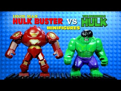 LEGO Iron Man Hulkbuster vs The Hulk KnockOff Minifigure (Bootleg)