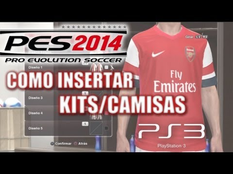 PES 2014 Tutorial: Como insertar KITS/CAMISAS para PS3 (Premier League)