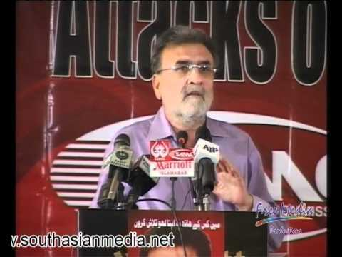 Attacks on Journalists and Media Freedom - Conference, Nusrat Javed