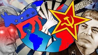 EAST VS WEST - WORLD SPLIT DIRECTLY IN TWO - Hearts Of Iron IV