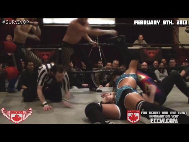 ECCW Kc Spinelli survives at #survivor in Vancouver Feb 9 13